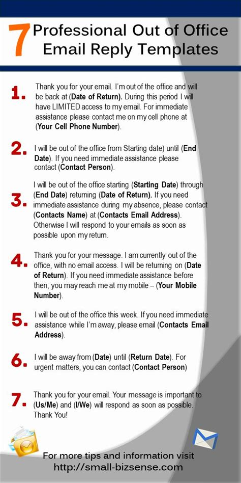 out of office email template 48 best images about on resume tips