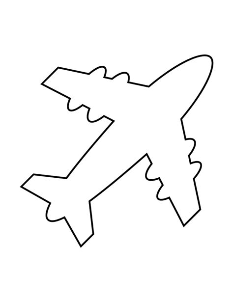 airplane cut out template airplane stencil 69 h m coloring pages