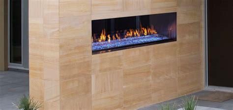 outdoor lifestyles palazzo see through gas fireplace