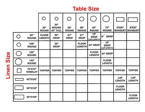 table cloth size magical events rental