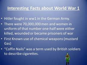Information About World World War 1 By Ppt