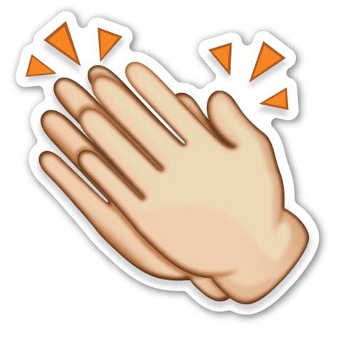 emoji tangan clapping hands sign