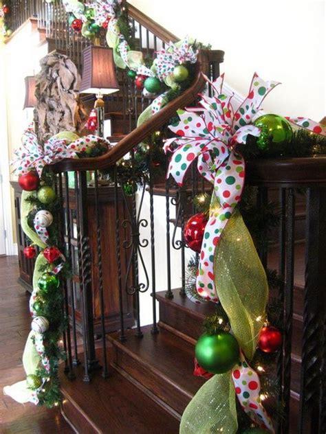 christmas banister christmas staircase decorations christmas winter 2013