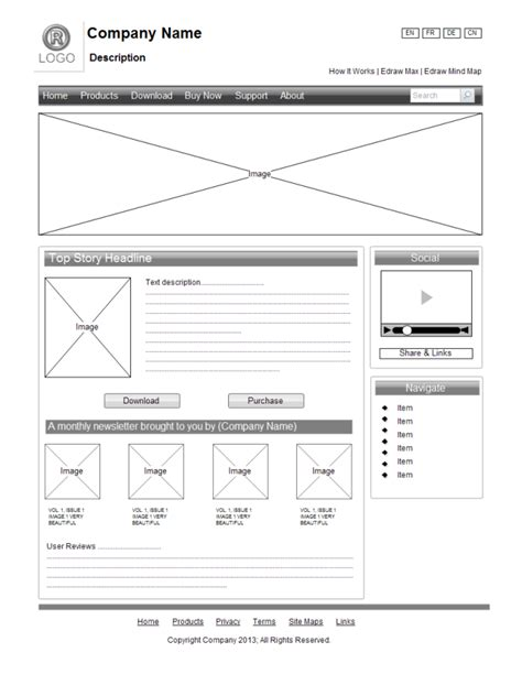 Fresh Website Wireframe Exles For Web Design Web Wireframe Template
