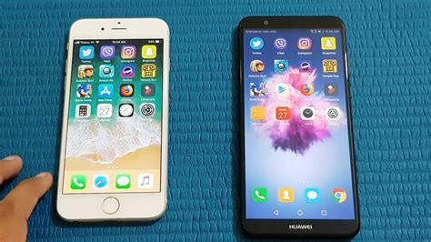 iphone v huawei huawei psmart vs iphone 6 speed test