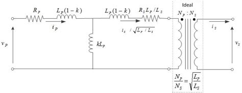 equivalent circuit of a real inductor real transformer equivalent circuit in terms of coupling coefficient k leakage inductance