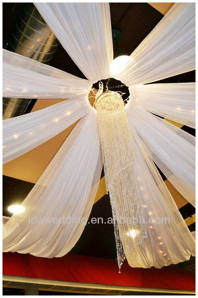 step by step ceiling draping wedding hall decoration ceiling draping kits for party