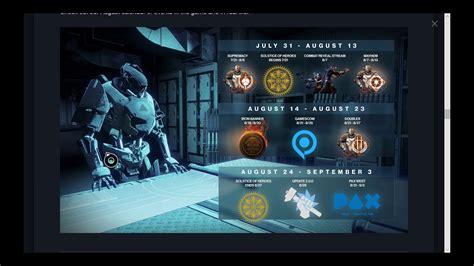 destiny weekly update august calendar