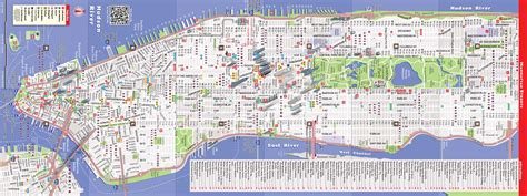 Pdf Streetsmart Nyc Map Vandam Manhattan by Map Of Manhattan Ny Travel Maps And Major Tourist