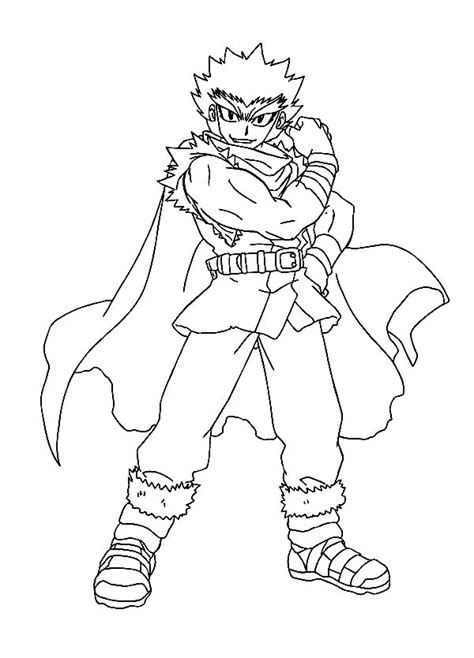 Ryuga Beyblade Coloring Pages