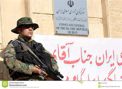 consolato iran consolato di arbil iran fotografia editoriale immagine di