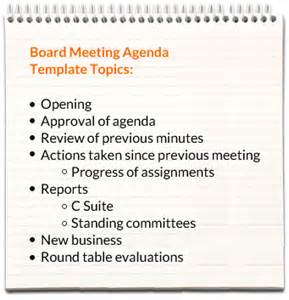 how to create a meeting agenda template board meeting agenda templates