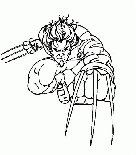 wolverine coloring pages online for free wolverine printable coloring pages x men super heroes