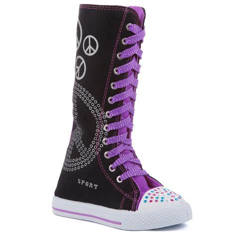 knee high sneakers knee high lace up canvas boots sneakers shoes