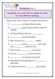 grade 3 grammar topic 26 there their they re worksheets