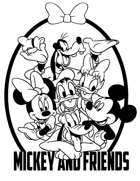 Mickey And Friends Coloring Page H M Coloring Pages Mickey And Friends Coloring Pages