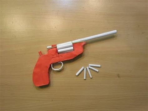 How To Make A Paper Gun That Shoots - how to make a paper gun that shoots 6 bullets with trigger