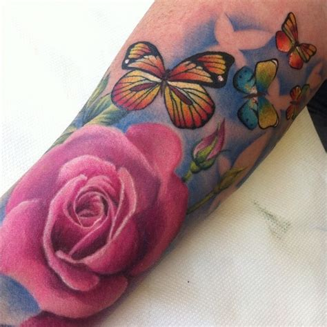 butterfly rose tattoo from best ink 17 best images about ideas on ink