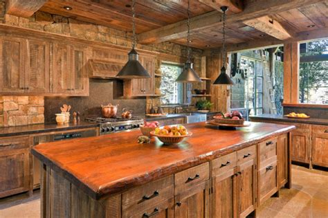 rustic kitchen decorating ideas rustic style kitchen images information about home
