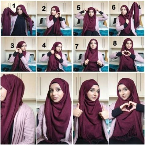 tutorial pashmina muslimah 10 best ideas about hijab style on pinterest square