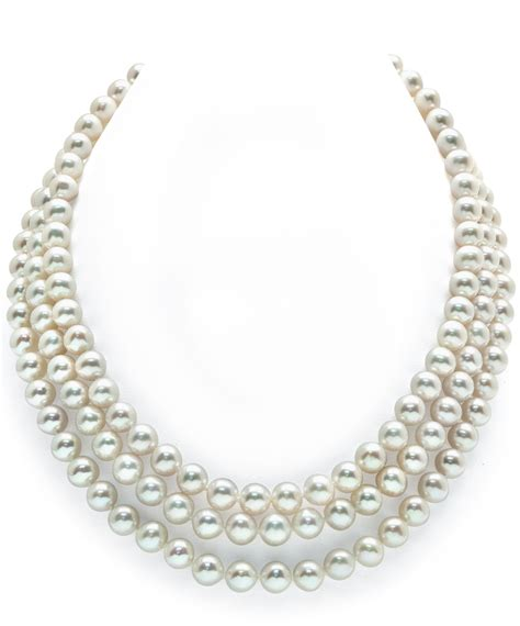 Pearl Necklace 7 8mm Strand White Freshwater Pearl Necklace