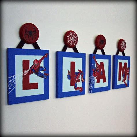 Bedroom Ideas For Toddler Boys spiderman letters 8x10 boys room decor boys room decor