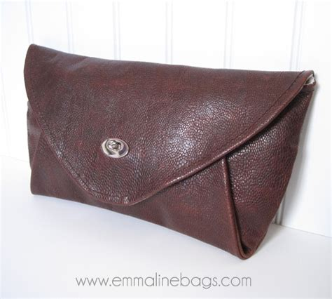 Handmade Clutches Pattern - a handmade leather clutch emmaline bags and patterns my