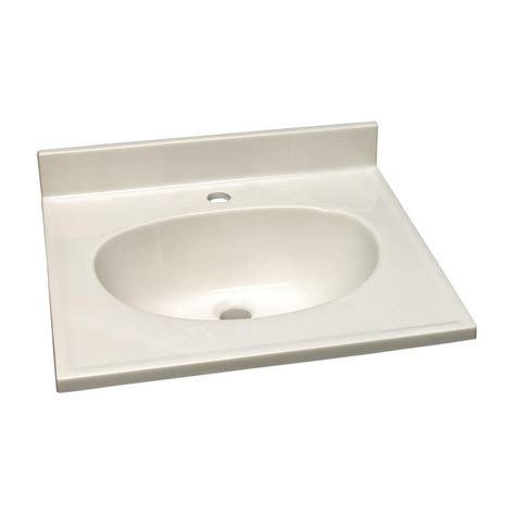 design house vanity top design house 61 in single faucet hole cultured marble