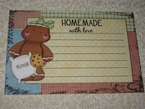 primitive recipe card template 78 images about gingerbread recipe cards on