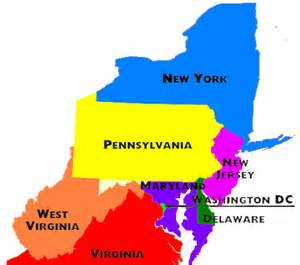 Mid Atlantic States Map by Pics Photos Middle Atlantic States The Middle Atlantic