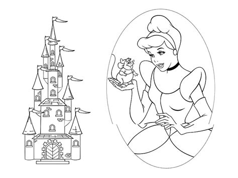 disney castle coloring pages az coloring pages