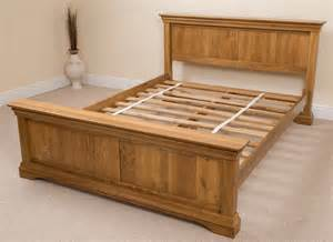 Bed Frames Wooden King Size Rustic Solid Oak Wood King Size Bed Frame
