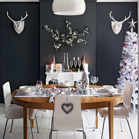 dark gray dining room glamorous christmas dining room ideas housetohome co uk