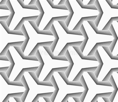 pattern svg offset monochrome tetrapods with hatched offset stock vector