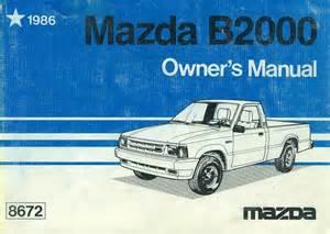 1986 mazda b2000 owner s manual
