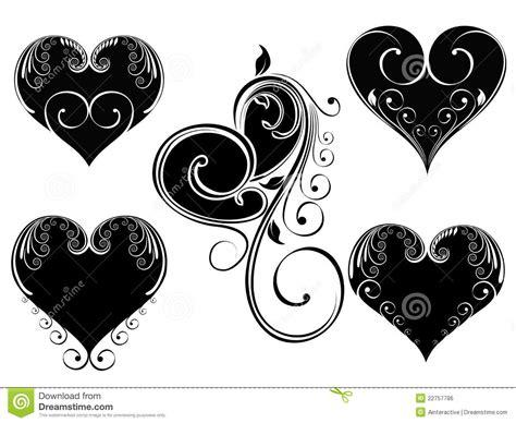 imagenes en blanco de corazones corazones florales del amor de la vendimia imagen de