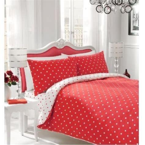 Sugar Stripe Plain Dyed Polka Dot Reversible Duvet Polka Dots Bedding Set