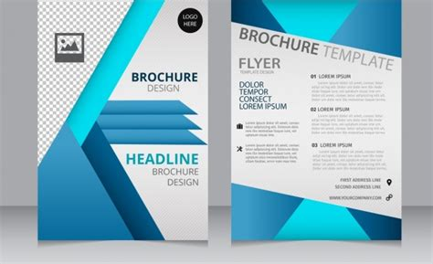 free layout for brochure advertising brochure template brochure free vector