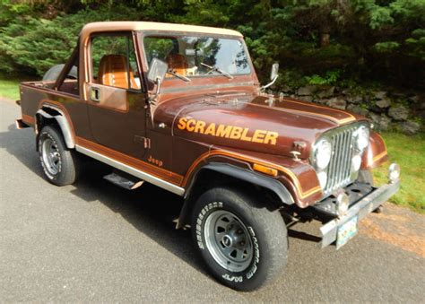 amc jeep scrambler 1982 amc jeep scrambler cj8 131k no reserve original