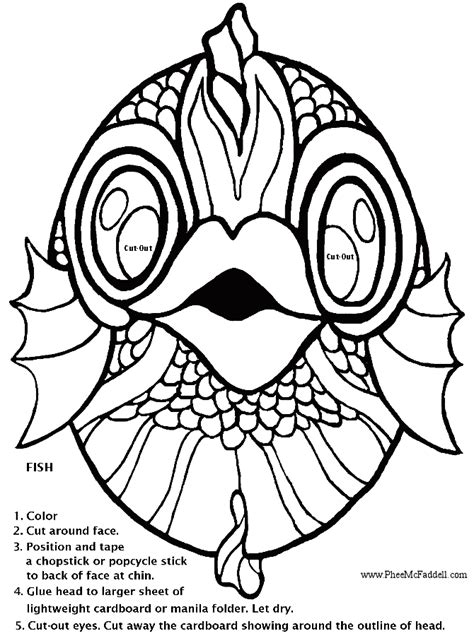 printable fish mask template 8 best images of fish mask template printable printable