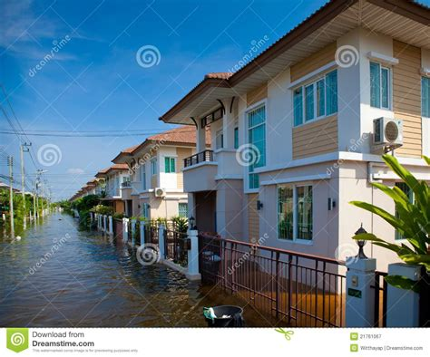 house insurance thailand flood waters overtake a house stock image cartoondealer com 31356541