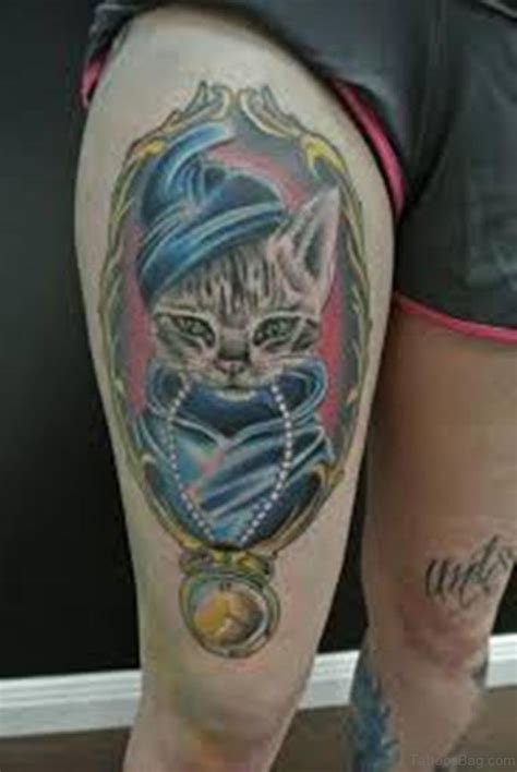 cat tattoo thigh 70 impressive portrait tattoos designs for thigh