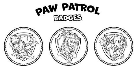 paw patrol coloring pages everest badge dibujos de la patrulla canina para colorear paw patrol