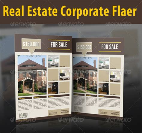 real estate brochure templates psd free download