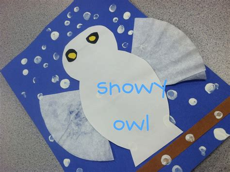 A Snowy Owl Papercraft Resting On My Laptop By - snow owl kindergarten winter