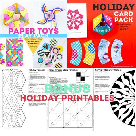 Holiday Gift Card Bonuses 2016 - bundle paper toys holiday cards bonus printables babble dabble do