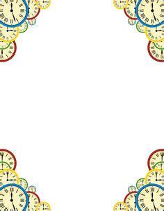 printable clock borders printable paper clip border free gif jpg pdf and png