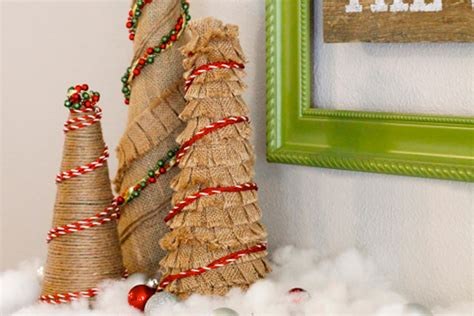 how to make a burlap christmas tree how to make burlap trees