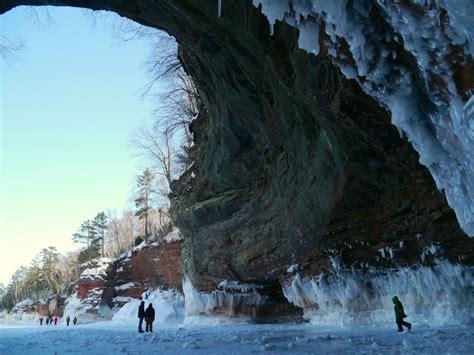 ice caves  apostle islands national lakeshore lake