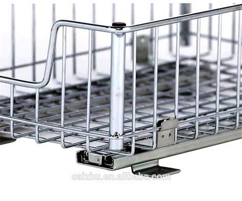 Sliding Baskets For Pantry by Kitchen Cabinet Undersink Sliding Pantry Drawer Basket
